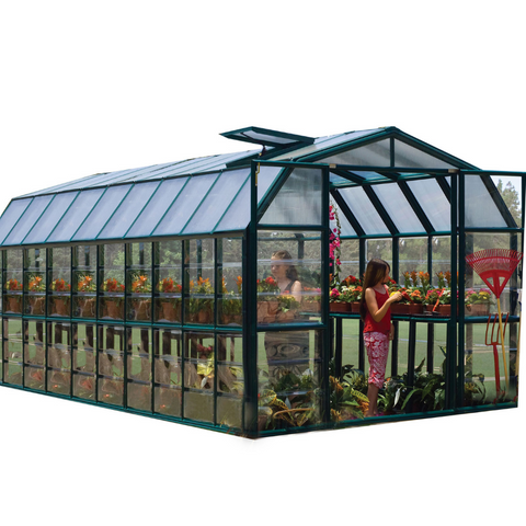 Image of Palram Rion Grand Gardener 8' x 20' Greenhouse  - Clear - HG7220C