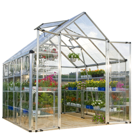 Image of Palram Snap & Grow 8' x 8' Greenhouse - Silver - HG8008