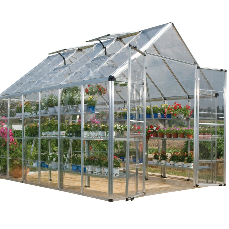 Palram  Snap & Grow 8' x 12' Greenhouse - Silver - HG8012