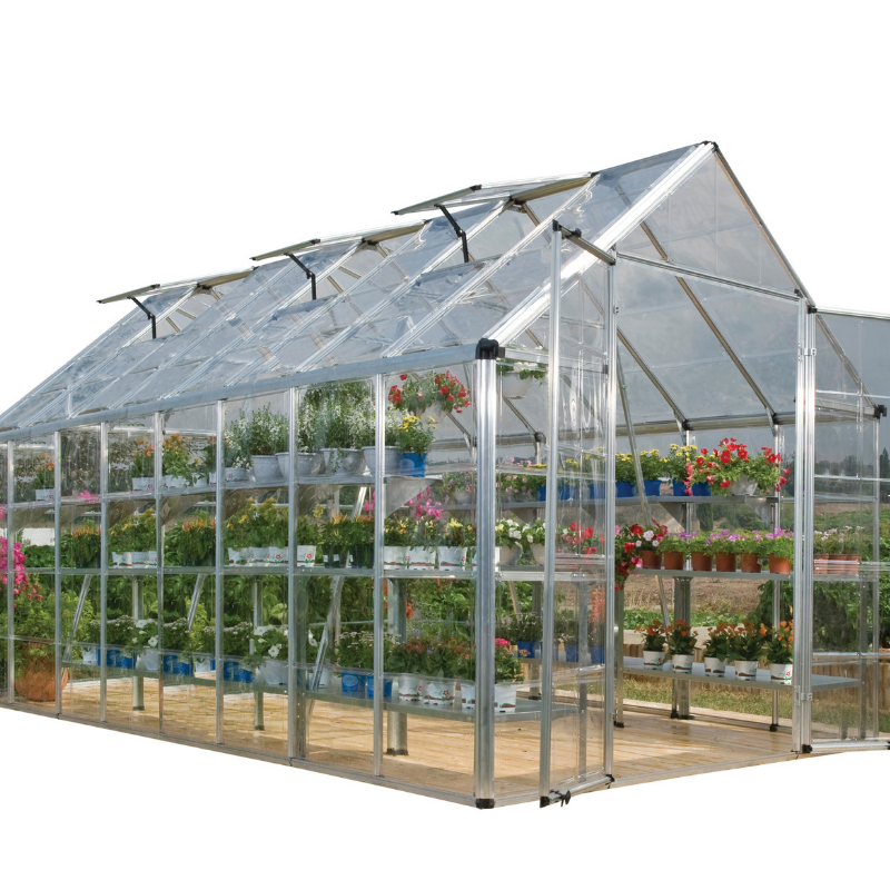 Palram Snap & Grow 8' x 16' Greenhouse - Silver - HG8016