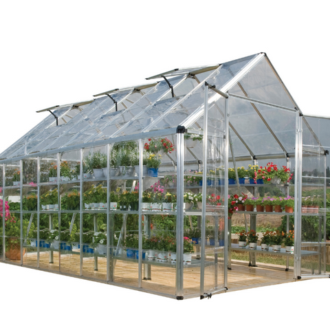 Image of Palram Snap & Grow 8' x 16' Greenhouse HG8016- Silver