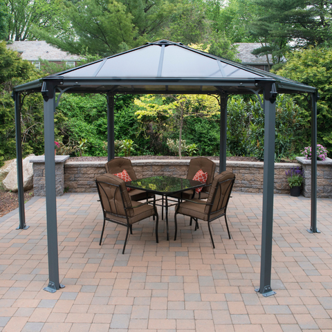Image of Palram Monaco Hexagon Garden Gazebo - HG9160