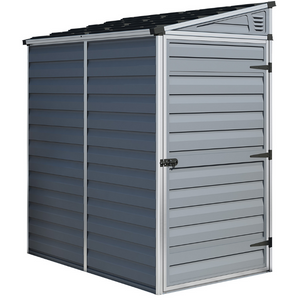 Palram HG9600T SkyLight 4' x 6' Lean-To Storage Shed - Gray