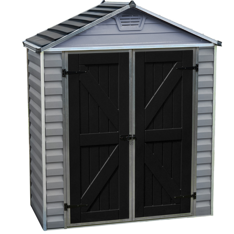 Palram SkyLight 6' x 3' Storage Shed - Gray - HG9603GY