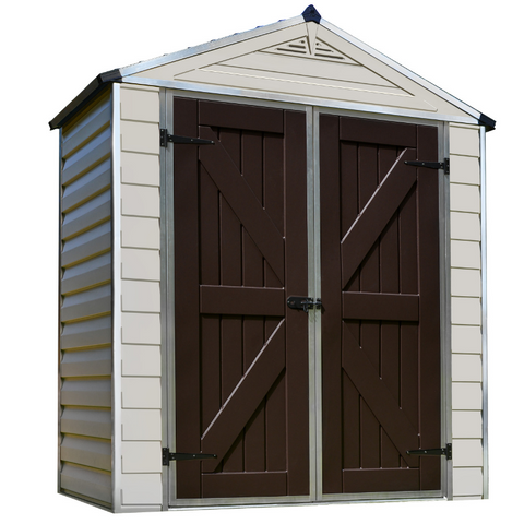 Image of Palram HG9603T SkyLight 6' x 3' Storage Shed - Tan