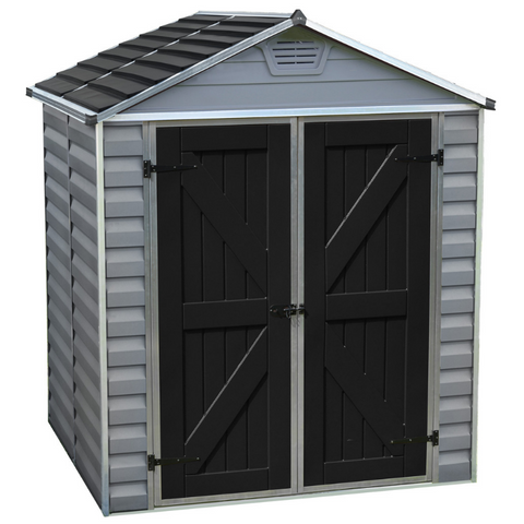 Image of Palram HG9605GY SkyLight 6' x 5' Storage Shed - Gray