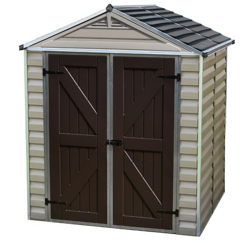 Image of Palram HG9605T SkyLight 6' x 5' Storage Shed - Tan