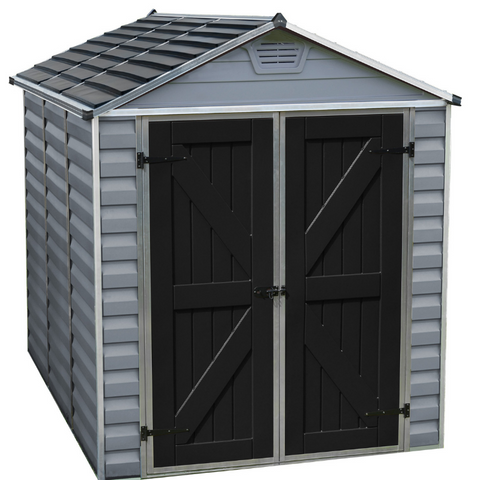 Image of Palram HG9608GY SkyLight 6' x 8' Storage Shed - Gray
