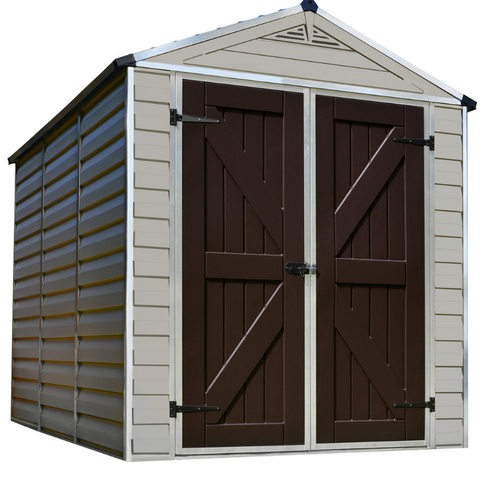 Image of Palram HG9608T SkyLight 6' x 8' Storage Shed - Tan