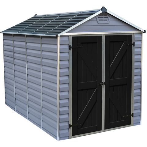 Image of Palram HG9610GY SkyLight 6' x 10' Storage Shed - Gray