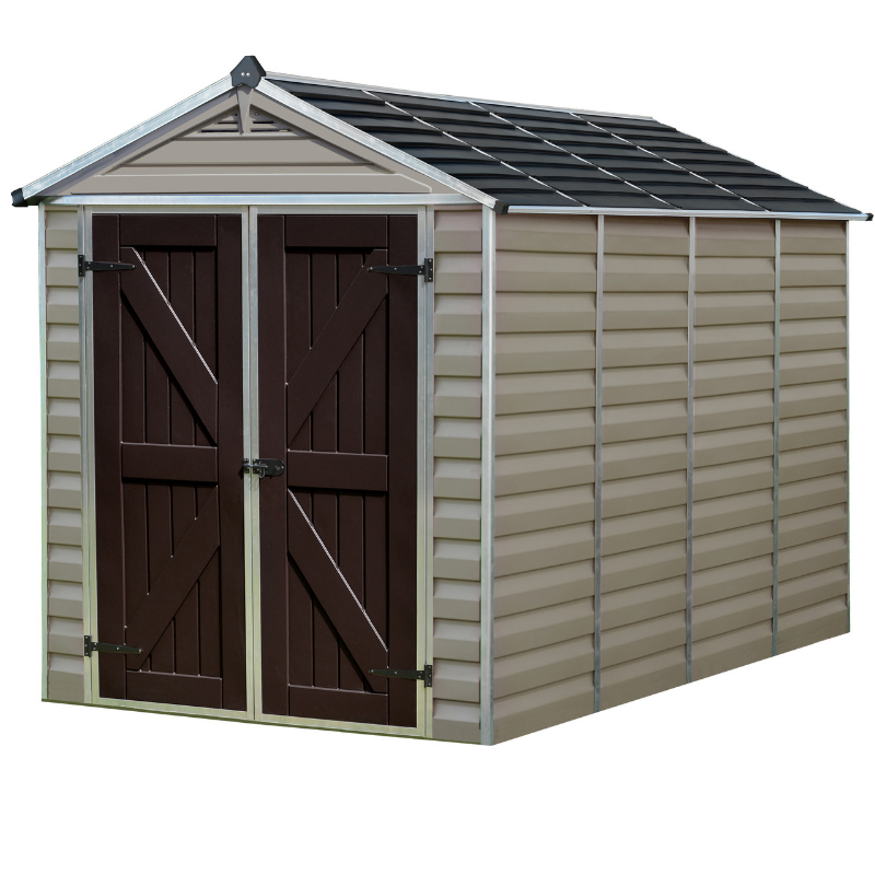 Palram SkyLight 6' x 10' Storage Shed - Tan - HG9610T