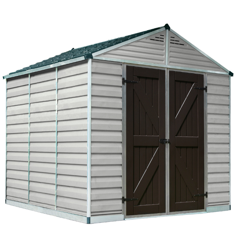 Palram SkyLight 8' x 8' Storage Shed - Tan - HG9808T