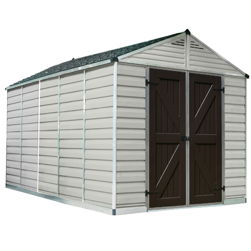 Palram SkyLight 8' x 12' Storage Shed - Tan - HG9812T