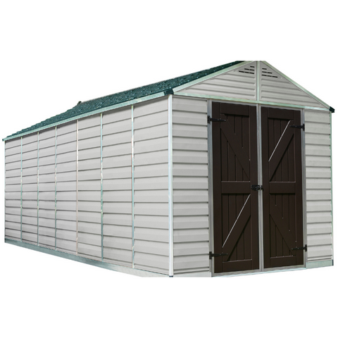 Image of Palram HG9816T SkyLight 8' x 16' Storage Shed - Tan
