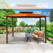 Image of Paragon Outdoor Barcelona 10x12 Gazebo with Rust Top