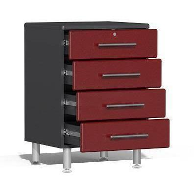 Ulti-MATE Garage 2.0 Series Red 10-Piece Kit with Recessed Worktop
