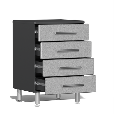 Image of Ulti-MATE Garage 2.0 Series 4-Drawer Silver Base Cabinet
