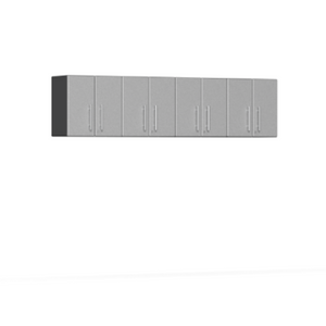 Ulti-MATE Garage 2.0 Series 4-Piece Wall Silver Cabinet Kit