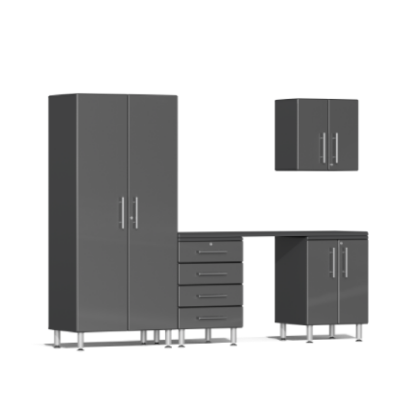 Ulti-MATE Garage 2.0 Series 5-Piece Kit Grey with Workstation