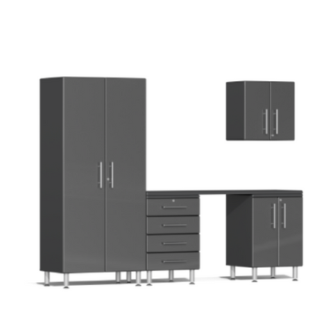 Image of Ulti-MATE Garage 2.0 Series 5-Piece Kit Grey with Workstation