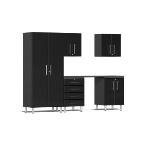 Image of Ulti-MATE Garage 2.0 Series 6-Piece Kit Black with Workstation