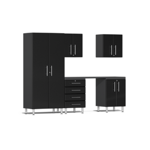Ulti-MATE Garage 2.0 Series 6-Piece Kit Black with Workstation