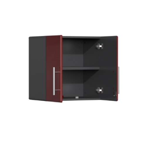 Image of Ulti-MATE Garage 2.0 Series 8-Piece Red Kit with Bamboo Worktop
