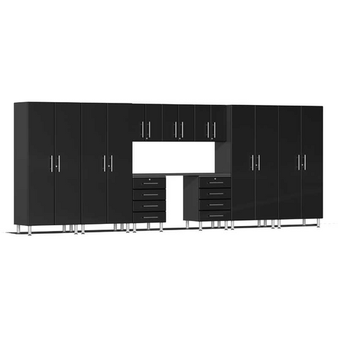 Image of Ulti-MATE Garage 2.0 Series Black 10-Piece Kit with Recessed Worktop