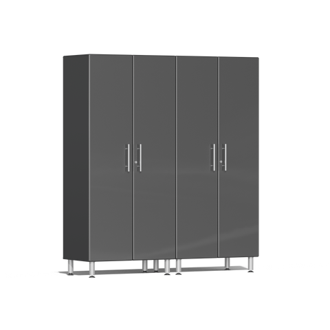 Ulti-MATE Garage 2.0 Series 2-Pc Tall Grey Cabinet Kit