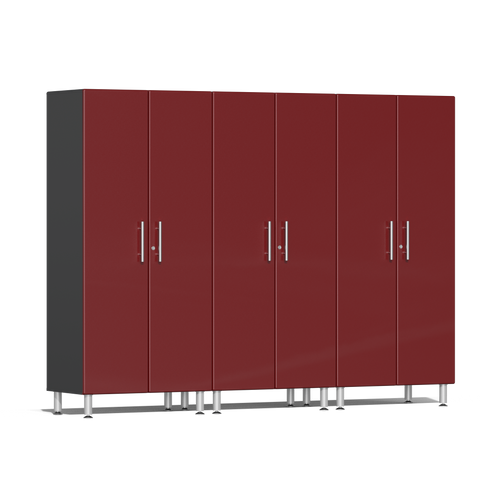 Image of Ulti-MATE Garage 2.0 Series 3-Pc Tall Red Cabinet Kit