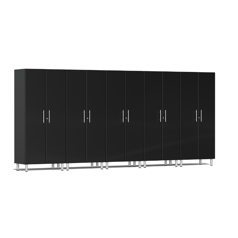 Ulti-MATE Garage 2.0 Series 5-Pc Tall Black Cabinet Kit