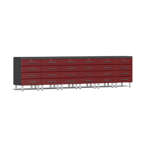 Image of Ulti-MATE Garage 2.0 Series 8-Piece Dual Workstation Kit Red