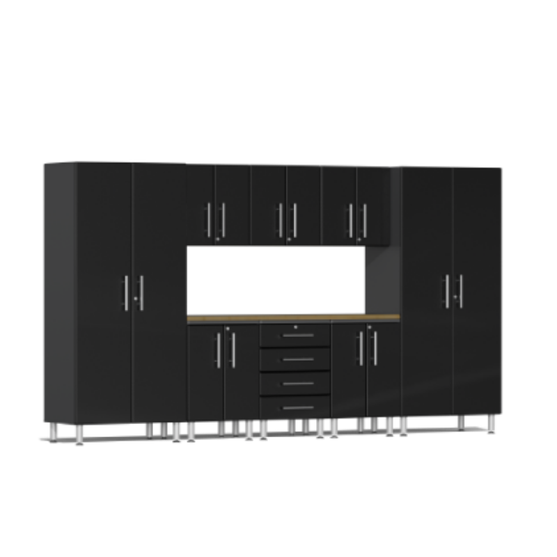 Ulti-MATE Garage 2.0 Series 9-Piece Kit with Worktop Black