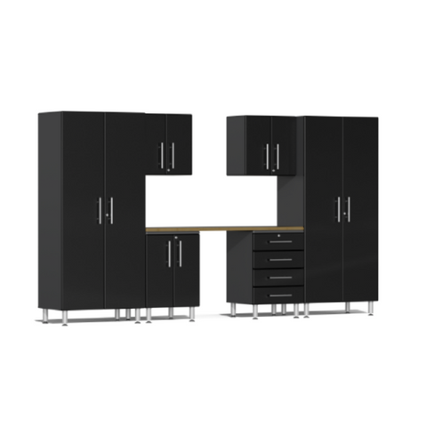 Image of Ulti-MATE Garage 2.0 Series 7-Piece Black Kit with Workstation