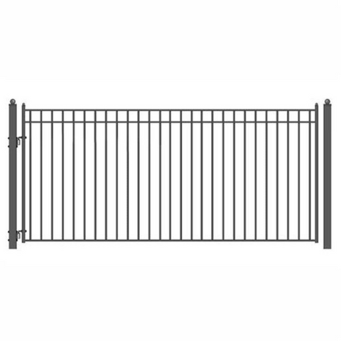 Aleko Steel Single Swing Driveway Gate Madrid Style 18 x 6 ft DG18MADSSW-AP