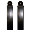 "Aleko Gate Post 8' x 3.5"" x 3.5"" for Driveway Steel Gates Set of 2 2GATEPOST8FTD-AP"