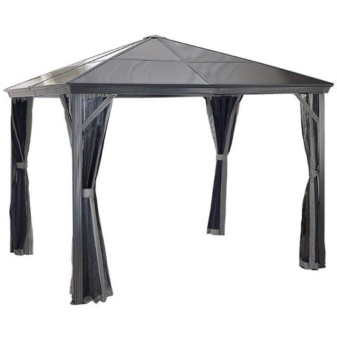 Image of Sojag 312-9162868 VERONA #77 Gazebo 10'x12' PC 6mm roof