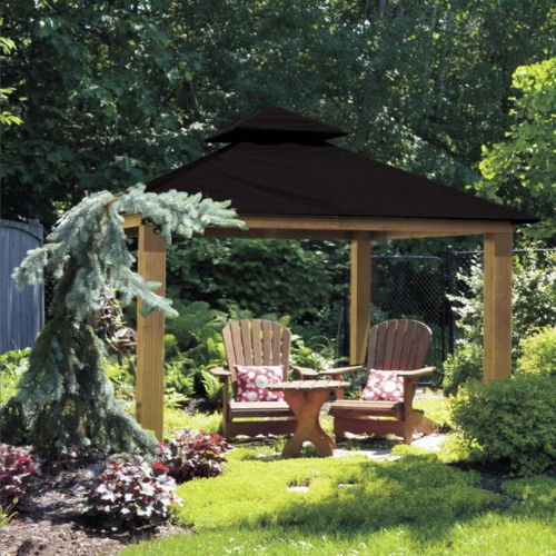 Black ACACIA AGRC14-SD 14 FT SQ ACACIA Gazebo-Replacement Canopy