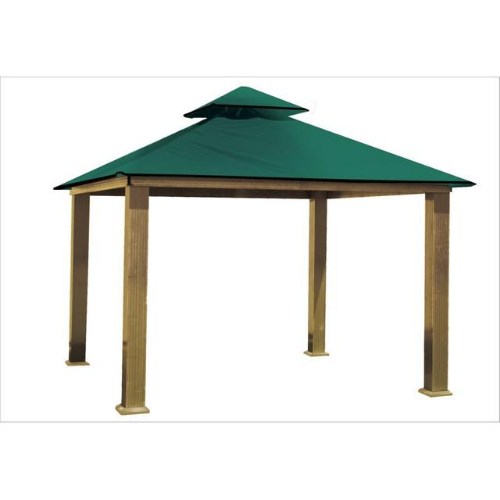 Green ACACIA AGRC14-SD 14 FT SQ ACACIA Gazebo-Replacement Canopy