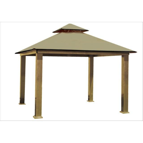 Khaki ACACIA AGRC14-SD 14 FT SQ ACACIA Gazebo-Replacement Canopy