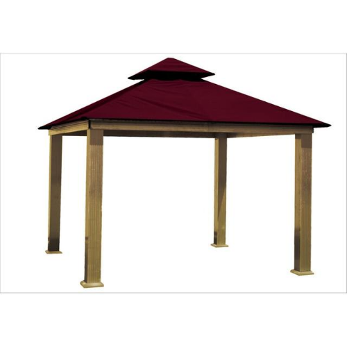 Maroon ACACIA AG14-SD 14 FT SQ ACACIA Gazebo