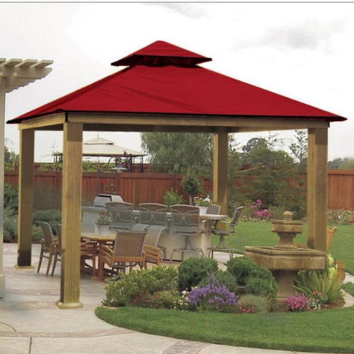 Red ACACIA AGRC14-SD 14 FT SQ ACACIA Gazebo-Replacement Canopy