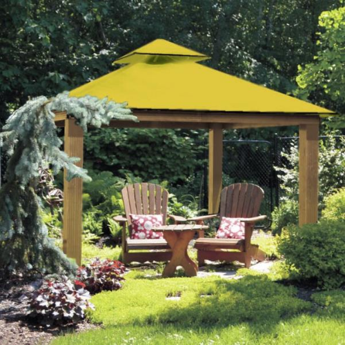 Yellow ACACIA AGRC14-SD 14 FT SQ ACACIA Gazebo-Replacement Canopy