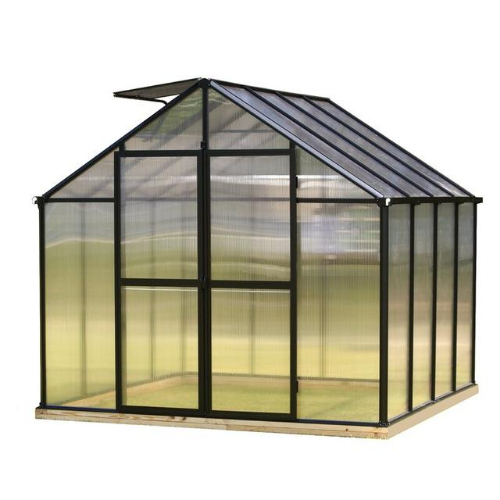 Monticello MONT-8-PREMIUM Monticello Greenhouse 8FTx 8FT - Black Finish - Premium Package