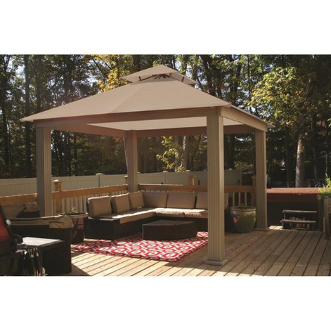 Image of Antique Beige (6006) ACACIA AGO12 12 FT SQ ACACIA Gazebo