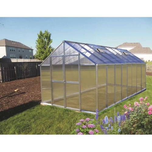 Monticello MONT-16-PREMIUM Monticello Greenhouse 8FTx 16FT - Black Finish - Premium Package