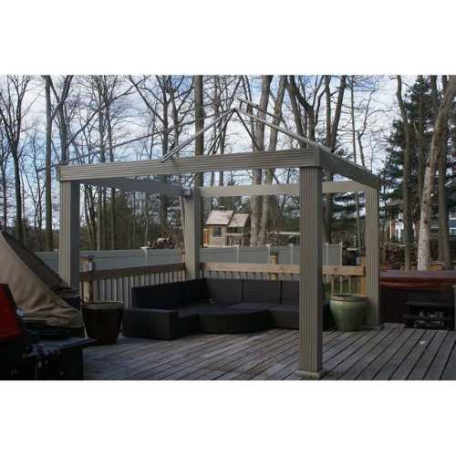 China Red (6010) ACACIA AGO14 14 FT SQ ACACIA Gazebo