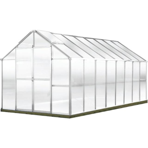 Monticello MONT-16-AL-GROWERS Monticello Growers Edition Greenhouse 8FTx 16FT - Aluminum Finish