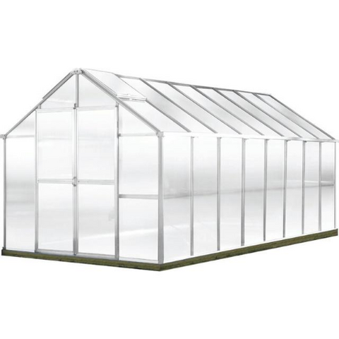 Image of Monticello MONT-16-AL-GROWERS Monticello Growers Edition Greenhouse 8FTx 16FT - Aluminum Finish