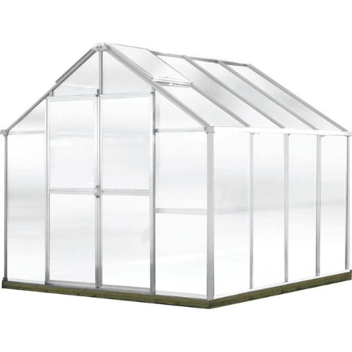 Monticello MONT-8-AL-GROWERS Monticello Growers Edition Greenhouse 8FTx 8FT - Aluminum Finish